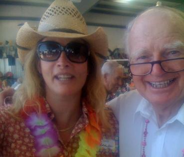 Jenna Ware and Jack Norris at a Hangar Party